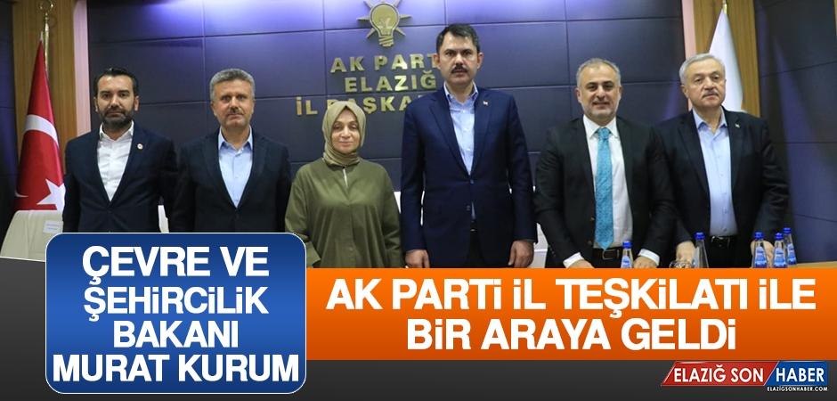 Bakanı Murat Kurum AK Parti İl Teşkilatı İle Bir Araya Geldi