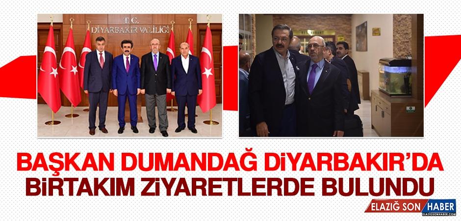 Başkan Dumandağ Diyarbakırda Bir Takım Ziyaretlerde Bulundu