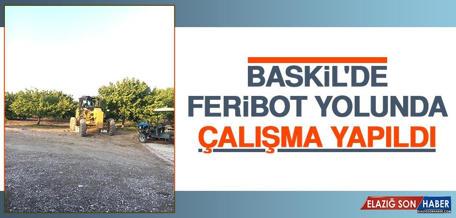 Baskil'de Feribot Yolunda Çalışma Yapıldı