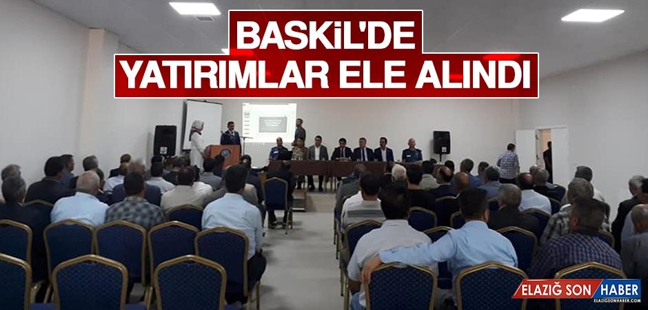Baskil'de Yatırımlar Ele Alındı