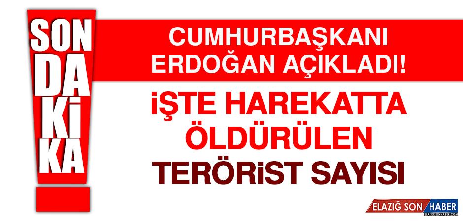 Cumhurbaşkanı Erdoğan harekatta öldürülen terörist sayısını açıkladı!