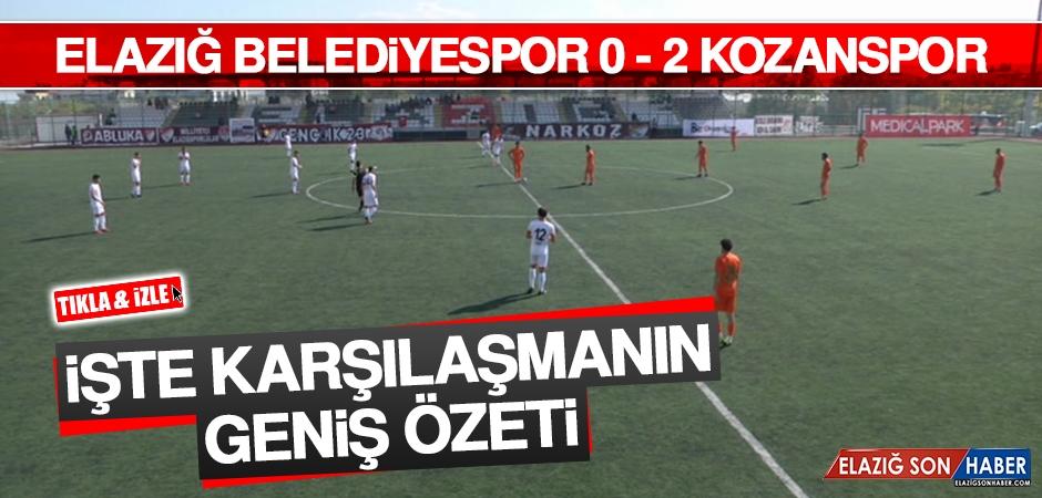 Elazığ Belediyespor 0-2 Kozanspor