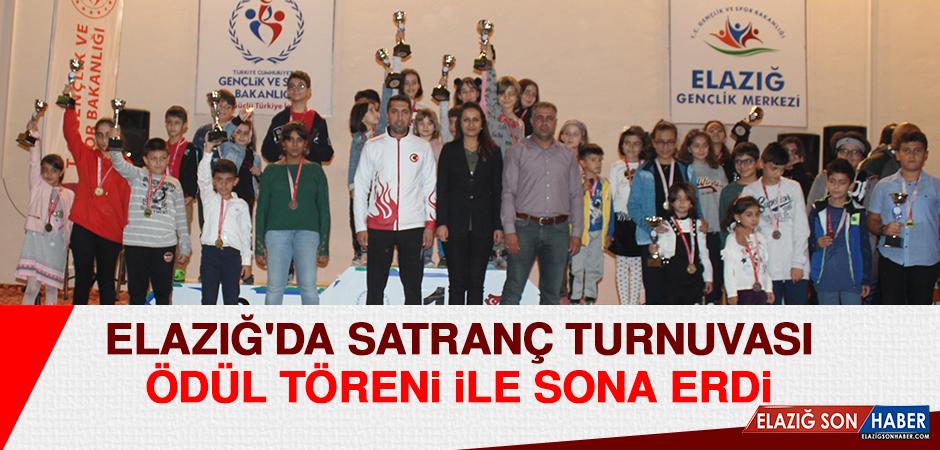 Elazığ'da Satranç Turnuvası Ödül Töreni İle Sona Erdi