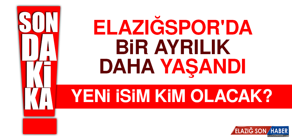 Elazığspor'da Bir Ayrılık Daha Yaşandı