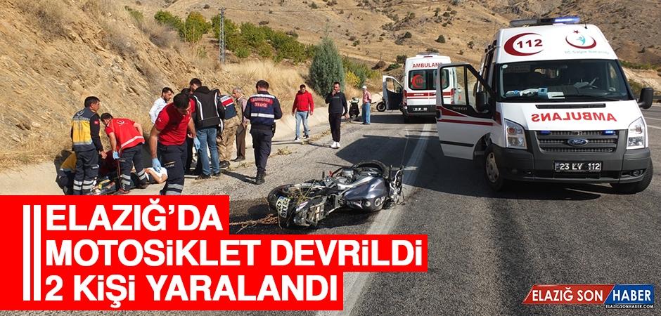 Keban'daki Motosiklet Kazasında 2 Kişi Yaralandı