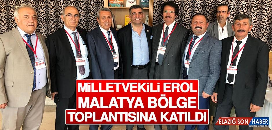 Milletvekili Erol, Partisinin Malatya Bölge Toplantısına Katıldı