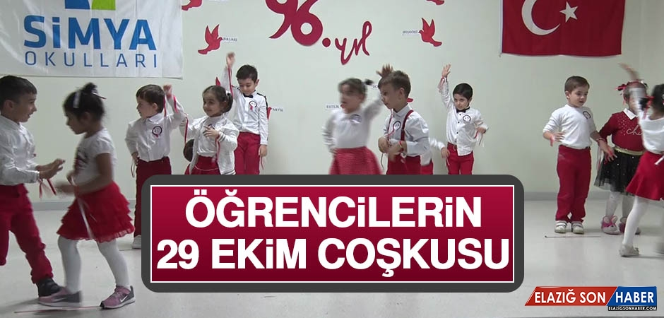 Öğrencilerin 29 Ekim Coşkusu