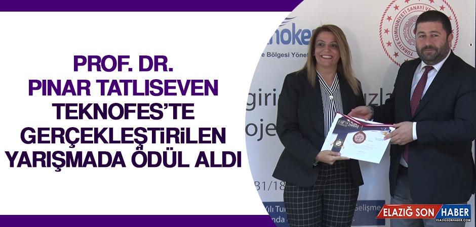 Prof. Dr. Pınar Tatlıseven TEKNOFES'te Gerçekleştirilen Yarışmada Ödül Aldı