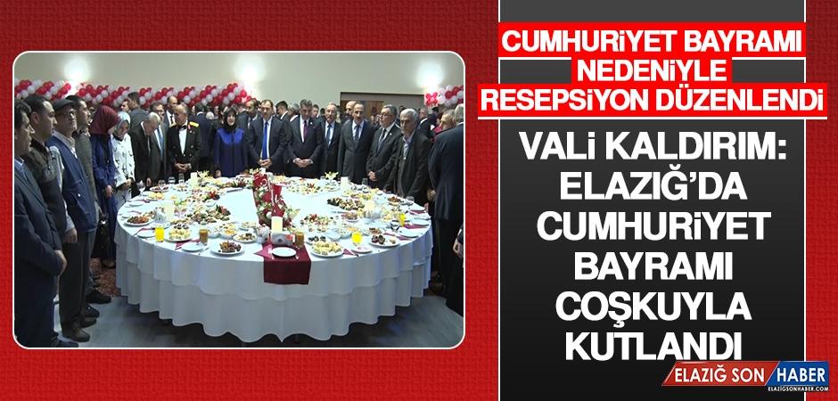 Vali Kaldırım: Elazığ'da Cumhuriyet Bayramı Coşkuyla Kutlandı