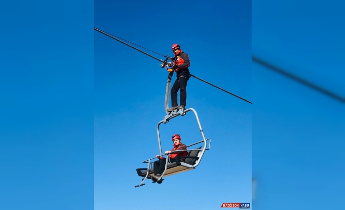 Cıbıltepe Kayak Merkezi'nde kurtarma tatbikatı