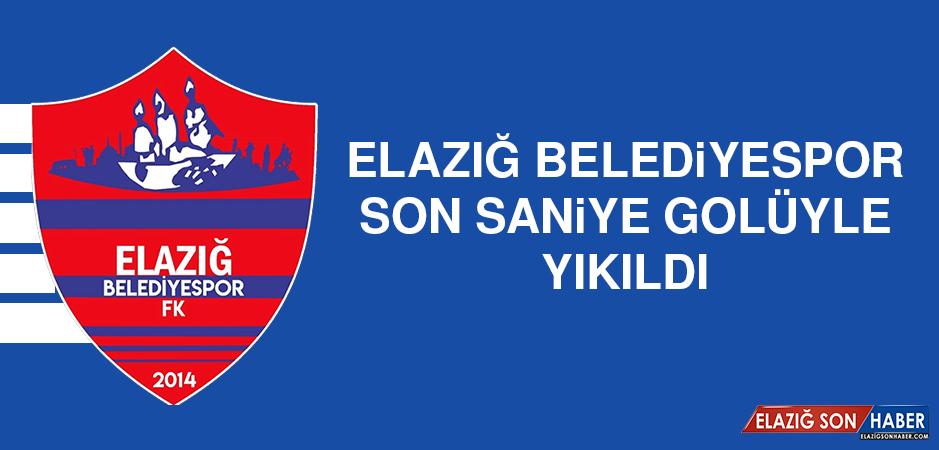 Elazığ Belediyespor, Son Saniye Golüyle Yıkıldı