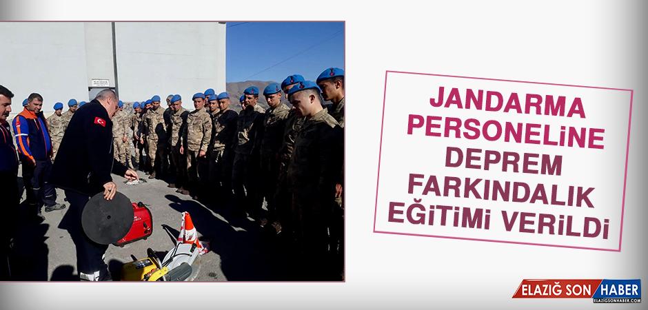 Jandarma Personeline Deprem Farkındalık Eğitimi Verildi