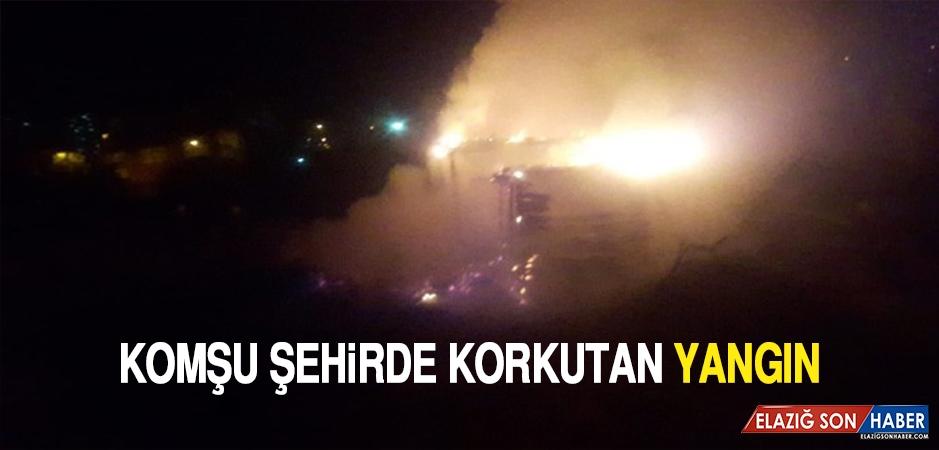 Komşu Şehirde Korkutan Yangın