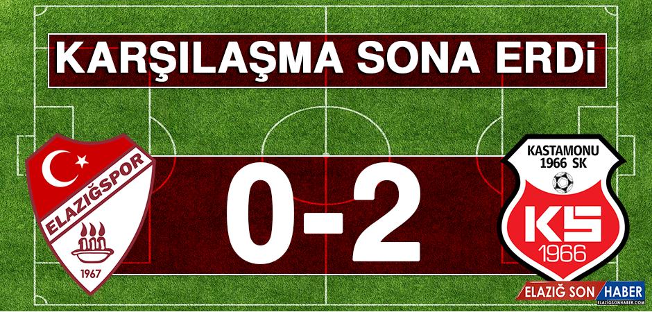 Birevim Elazığspor 0 - 2 Kastamonuspor Karşılaşması Sona Erdi