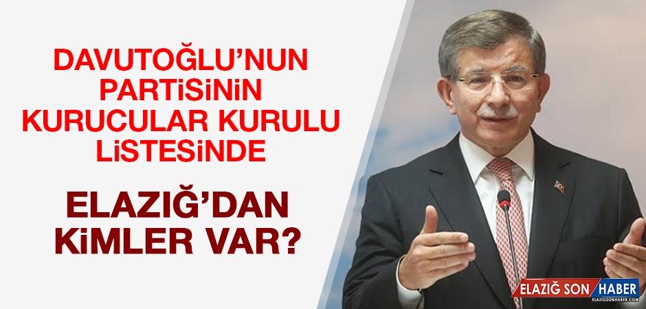 Davutoğlu'nun Partisinde Elazığ'dan Kimler Var