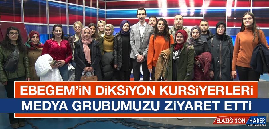 EBEGEM'in Diksiyon Kursiyerleri Medya Grubumuzu Ziyaret Etti