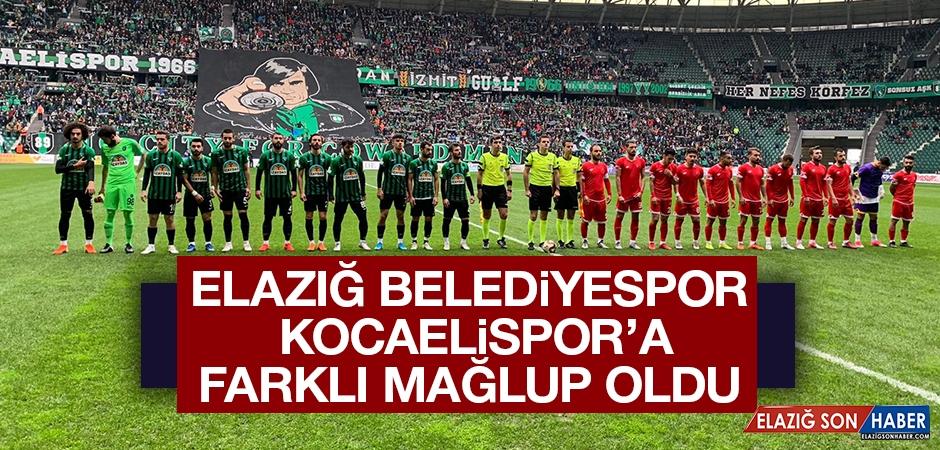 Elazığ Belediyespor, Kocaelispor Farklı Mağlup Oldu