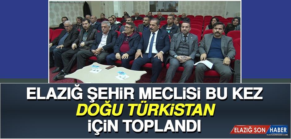 Elazığ Şehir Meclisi Bu Kez Doğu Türkistan İçin Toplandı
