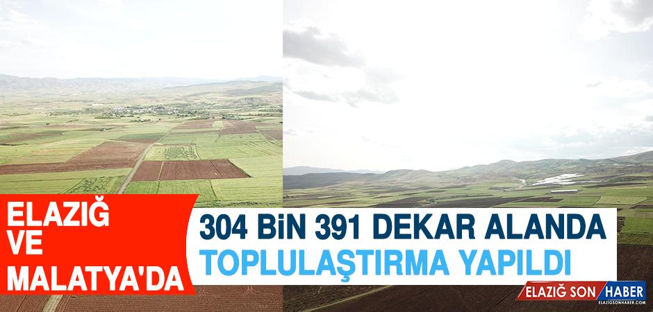Elazığ ve Malatya'da 304 Bin 391 Dekar Alanda Toplulaştırma Yapıldı