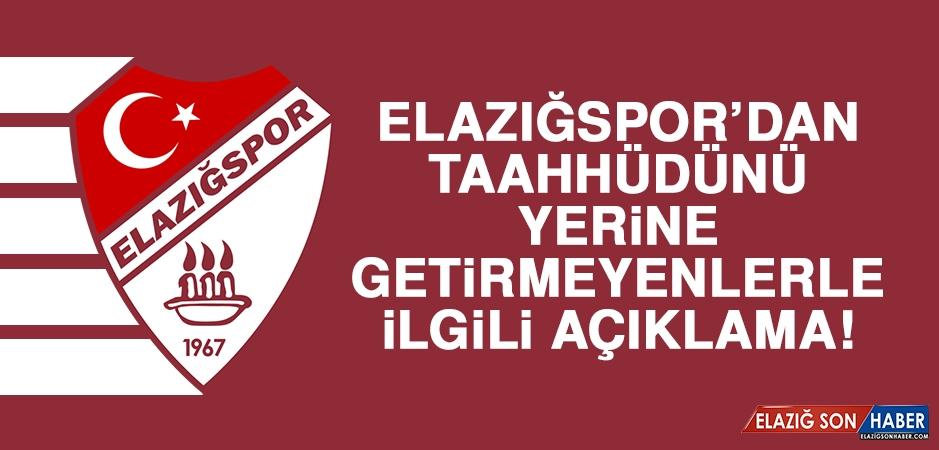 Elazığspor Kulübü'nden Forma Kampanyası Açıklaması