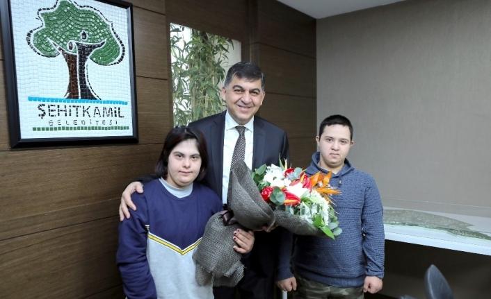 Engelli sporculardan Başkan Fadıloğlu'na ziyaret