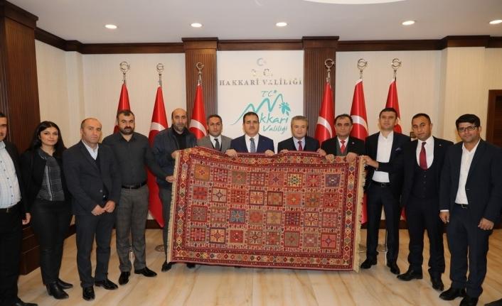 HATSO heyetinden Vali Akbıyık'a ziyaret