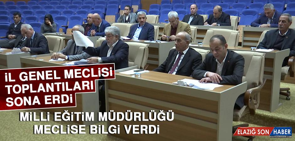 İL GENEL MECLİSİ TOPLANTILARI SONA ERDİ