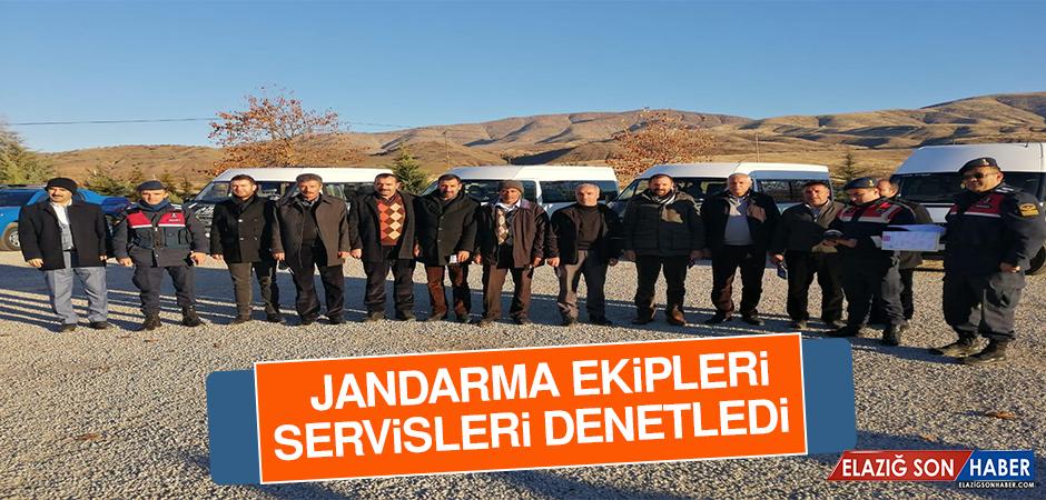 Jandarma Ekipleri Servisleri Denetledi