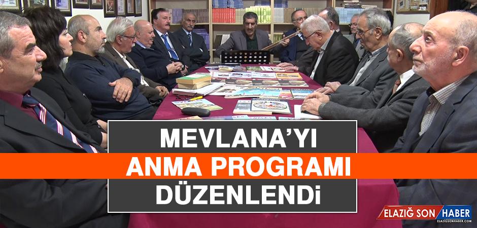 Mevlana'yı Anma Programı Düzenlendi