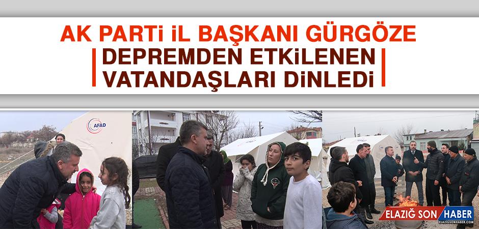 AK Parti İl Başkanı Gürgöze, Vatandaşları Dinledi