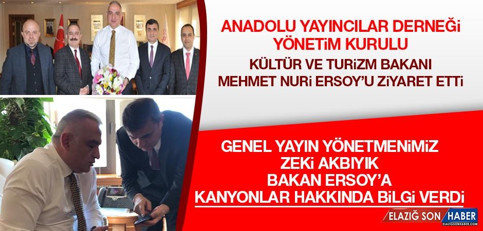 Akbıyık, Kültür Bakanı Ersoy'a Kanyonlar Hakkında Bilgi Verdi