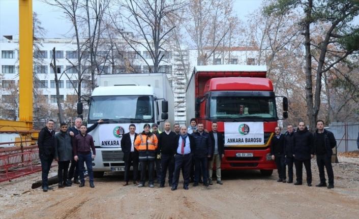 Ankara Barosundan depremzedelere yardım