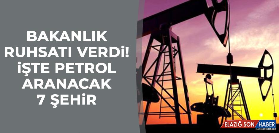 Bakanlık ruhsatı verdi! İşte petrol aranacak 7 şehir
