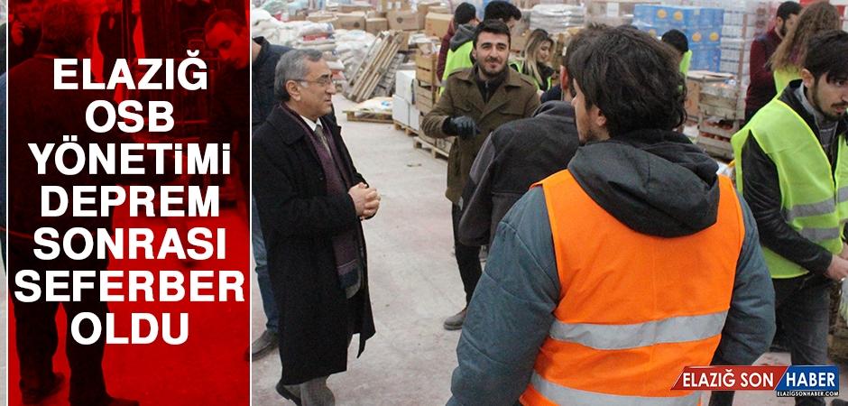 Elazığ OSB Yönetimi Deprem Sonrası Seferber Oldu