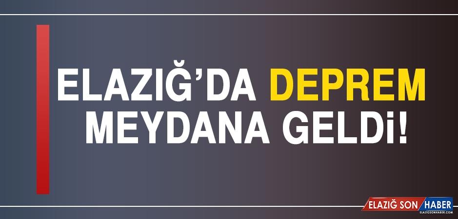 Elazığ'da Deprem Meydana Geldi!