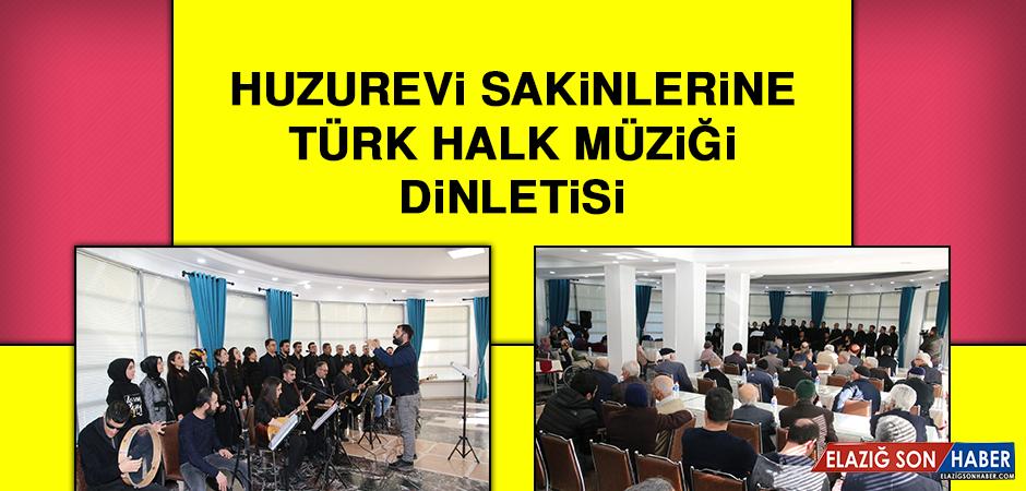 Huzurevi Sakinlerine Türk Halk Müziği Dinletisi