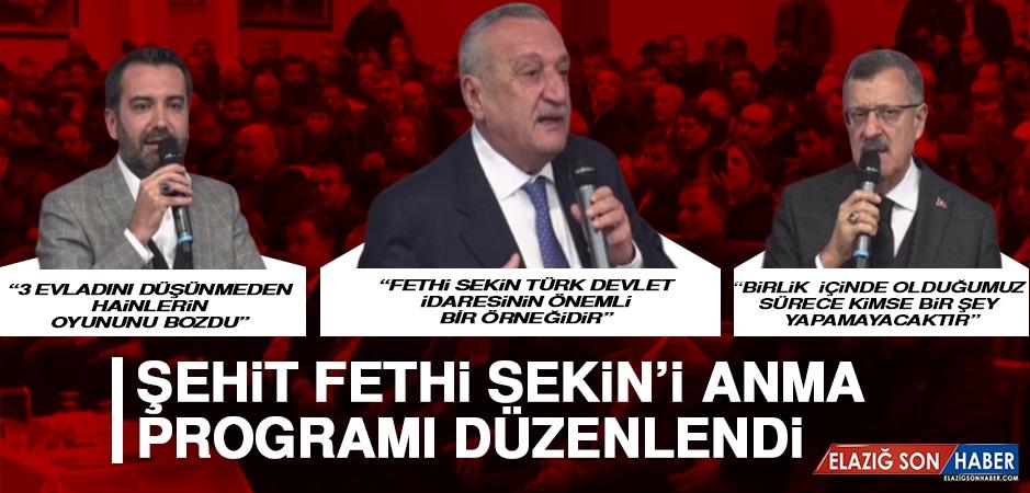 Şehit Fethi Sekin'i Anma Programı Düzenlendi