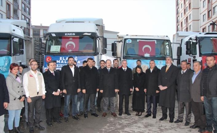 Şırnak'tan Elazığ ve Malatya'daki depremzedelere yardım malzemesi gönderildi