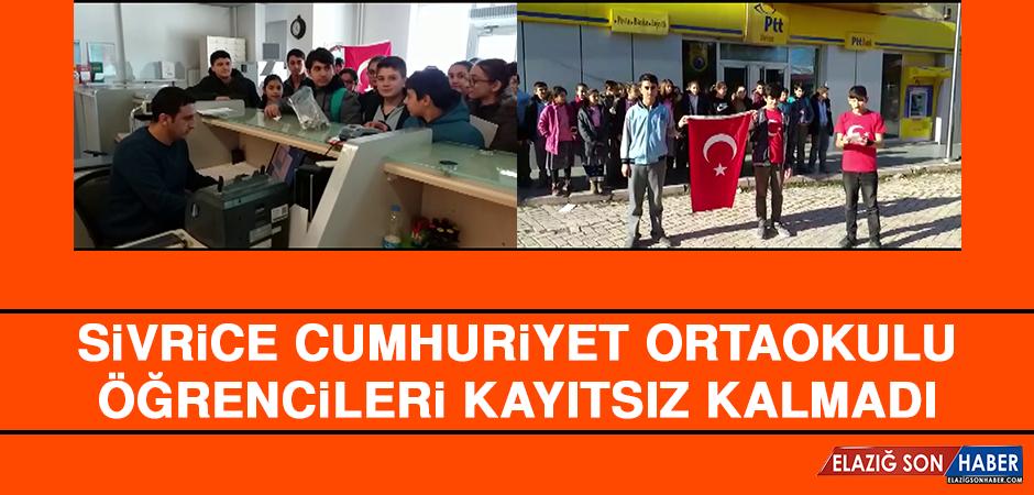Sivrice Cumhuriyet Ortaokulu Öğrencileri Kayıtsız Kalmadı