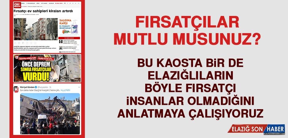 Türkiye Maalesef Fırsatçıları Konuşuyor