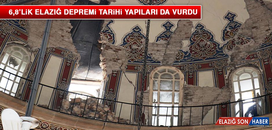 6,8'lik Elazığ Depremi Tarihi Yapıları da Vurdu