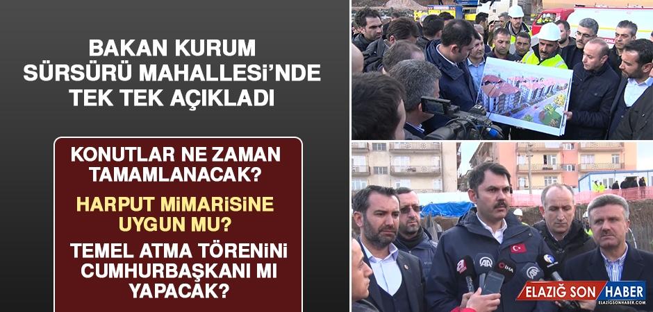 Bakan Murat Kurum, Sürsürü'de Önemli Açıklamalarda Bulundu