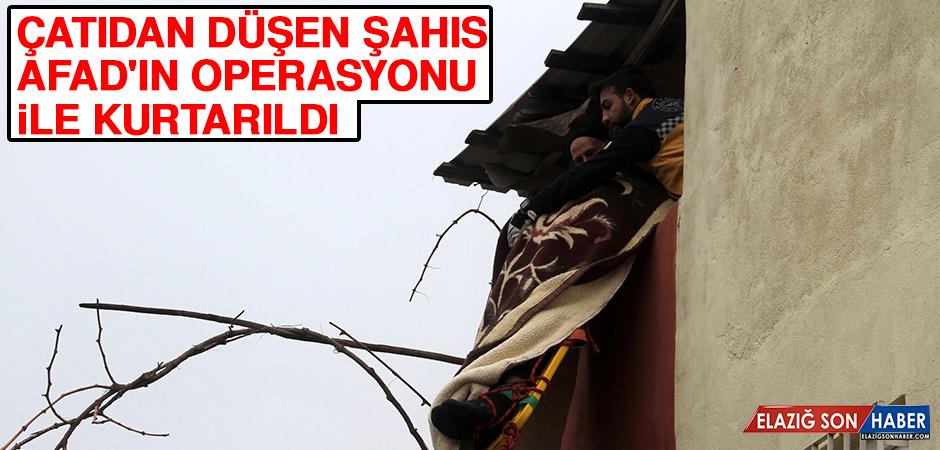 Çatıdan Düşen Şahıs Afad'ın Operasyonu İle Kurtarıldı