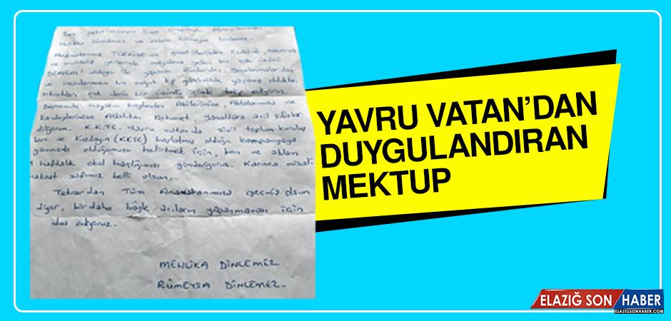 Deprem Bölgesine Yavru Vatan'dan Duygulandıran Mektup