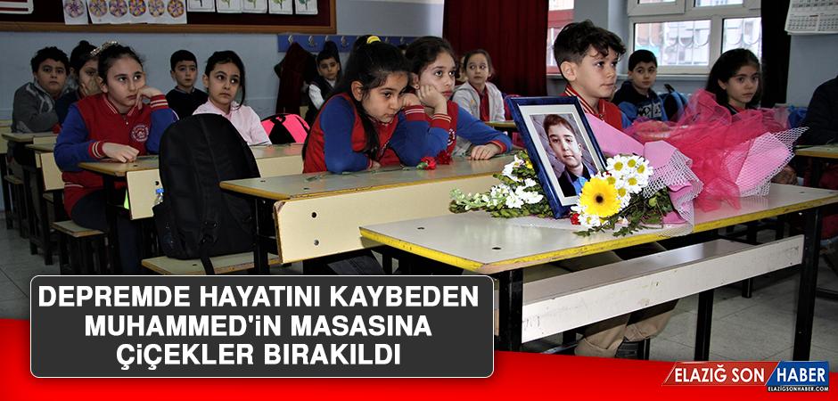 Depremde Hayatını Kaybeden Muhammed'in Masasına Çiçekler Bırakıldı