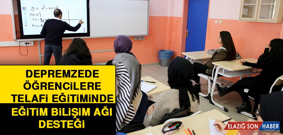 Depremzede Öğrencilere Telafi Eğitiminde Eğitim Bilişim Ağı Desteği