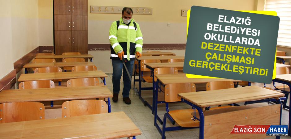 Elazığ Belediyesi Okullarda Dezenfekte Çalışması Gerçekleştirdi