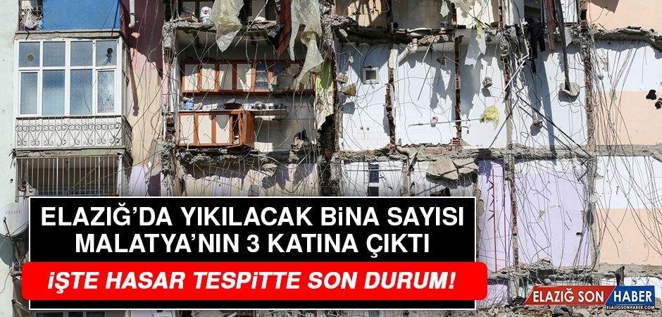 Elazığ'da Kaç Bina Yıkılacak?