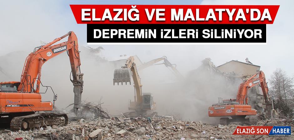 Elazığ ve Malatya'da Depremin İzleri Siliniyor