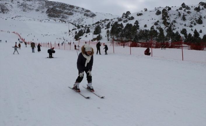 Ergan Dağı'nda yarıyıl tatili yoğunluğu